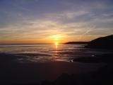 Coucher de soleil sur la baie de Douarnenez